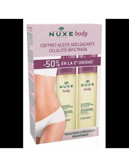NUXE BODY COFFRET ACEITE ADELGAZANTE CELULITIS INFILTRADA 2 X 100 ML
