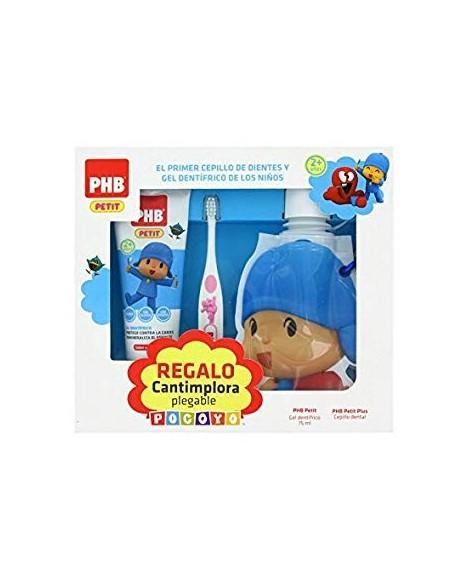 PACK PHB PETIT POCOYO GEL DENTIFRICO INFANTIL + CEPILLO + CANTIMPLORA DE REGALO