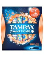 TAMPAX COMPAK PEARL TAMPON 100%ALGODON  SUPER PLUS 18 U