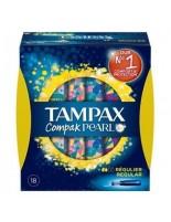 TAMPAX COMPAK PEARL TAMPON 100%ALGODON  REGULAR 18 U